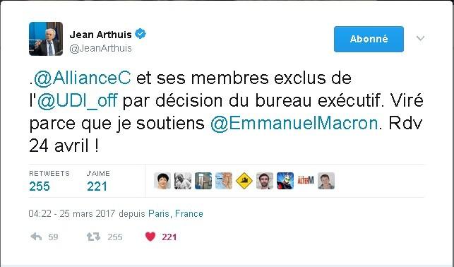 Soutien à Jean Arthuis - image JA-tweet on http://www.billelouadah.fr